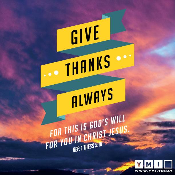 Ref 1 Thessalonians 5:18