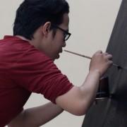 Galih's-glitter-painting